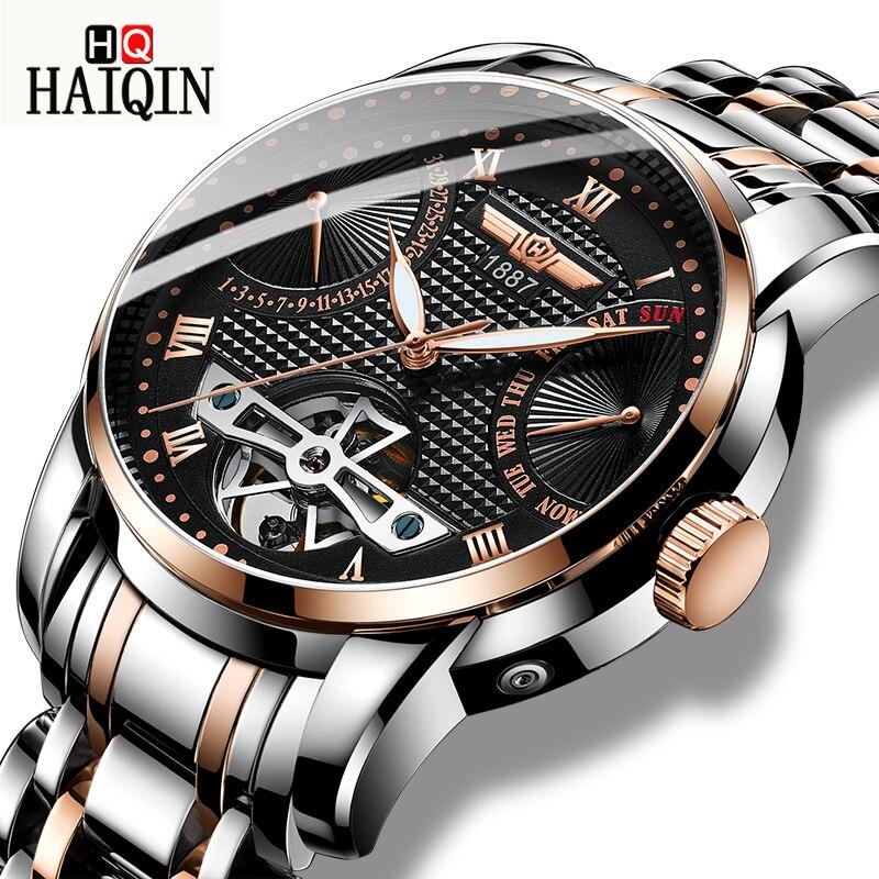 9577b0051510 HAIQIN Men s Watches automatic gold mechanical waterproof sport military  wrist watch mens watches top brand luxury reloj hombre - aliexpress.com -  imall.com