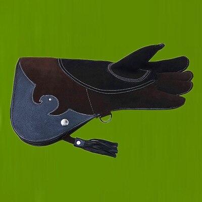 42cm Falcon Protector Glove Eagle Italy Cowhide Leather Protective Falconry Equipment Training Sleeve Glove Hand Hood Handguard