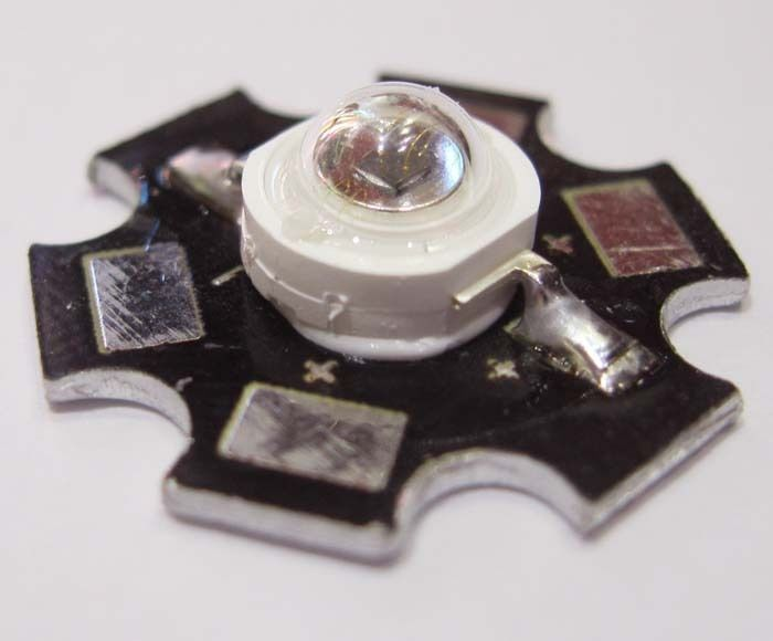 Freeshipping!3W Infrared IR 730NM-740nm High Power LED Bead Emitter With 20mm Star Platine Base