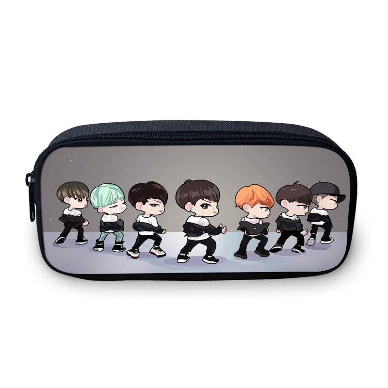 VEEVANV Women Cosmetic Bag Organizer Make Up Bag Boys Pencil Case 3D Korean EXO Star Children