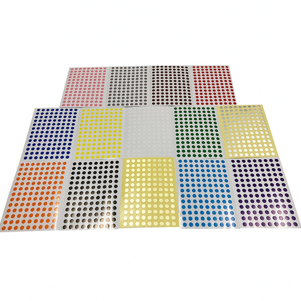 12Sheets/Pack 8mm Round Dot Candy Color Label Self Adhesive Dot Sticker Office School Supplies Tag Stickers