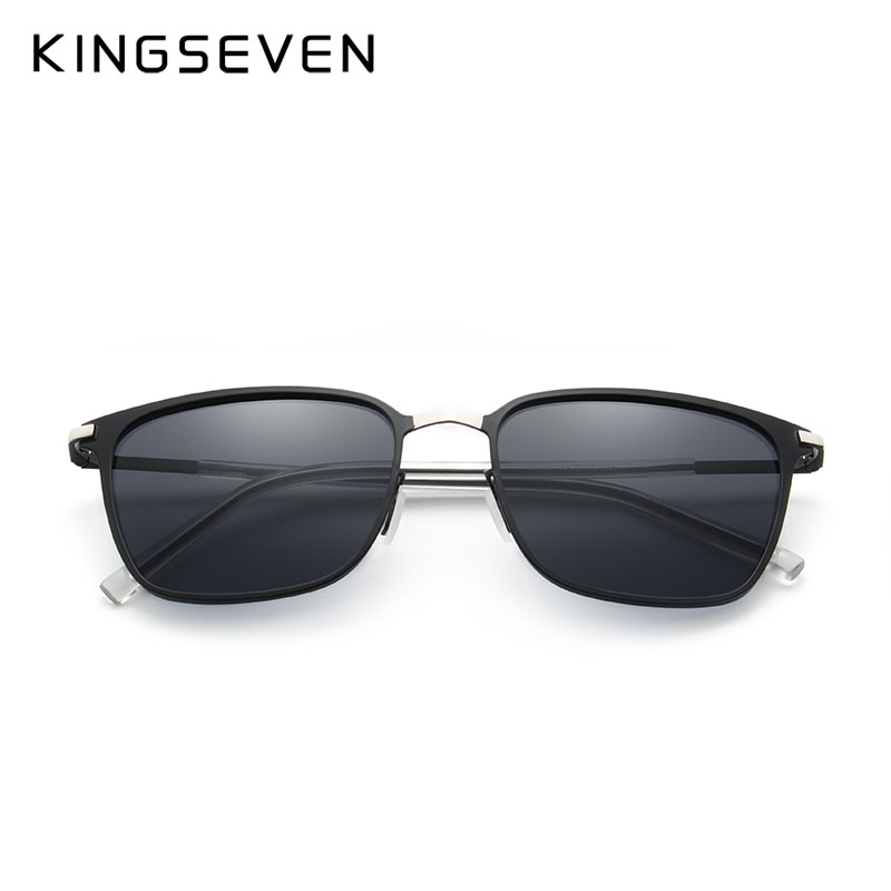 KINGSEVEN BRAND DESIGN Stainless Frame Sunglasses Men Polarized UV400 Lens Eyewear  Male Driving Sun Glasses Oculos-in Sunglasses from Apparel Accessories on  ... 83752ced85