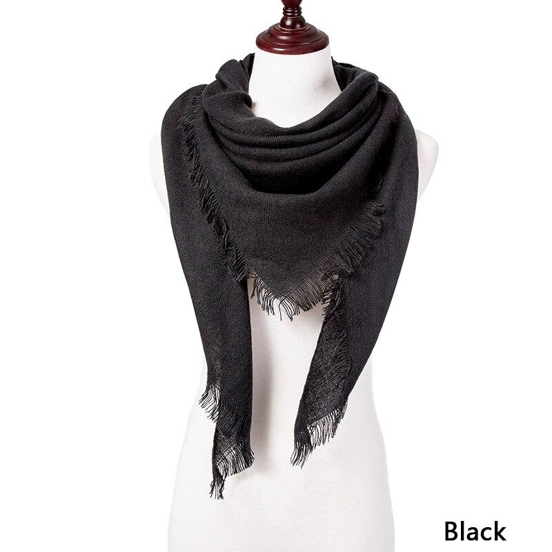 Горячая Распродажа, Модный зимний шарф, Женские повседневные шарфы, Дамское Клетчатое одеяло, кашемировый треугольный шарф,, Прямая поставка - Цвет: C3