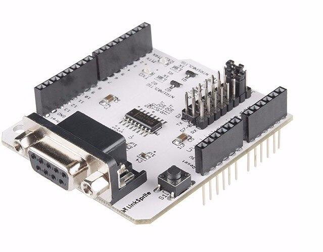 Fast Free Ship RS232 Shield V2 for pcDuino Arduino RS232 serial interface communication module Demo Board
