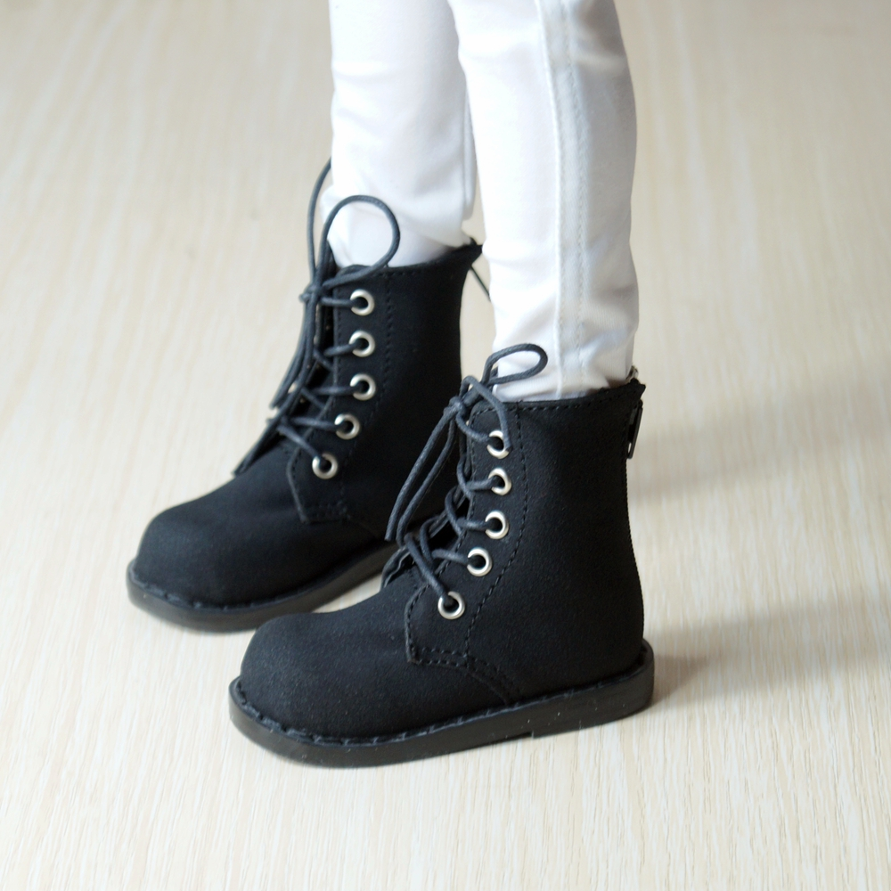 BJD SHOES Black Synthetic Leather Short Boots Shoes For 1/3 60cm 24