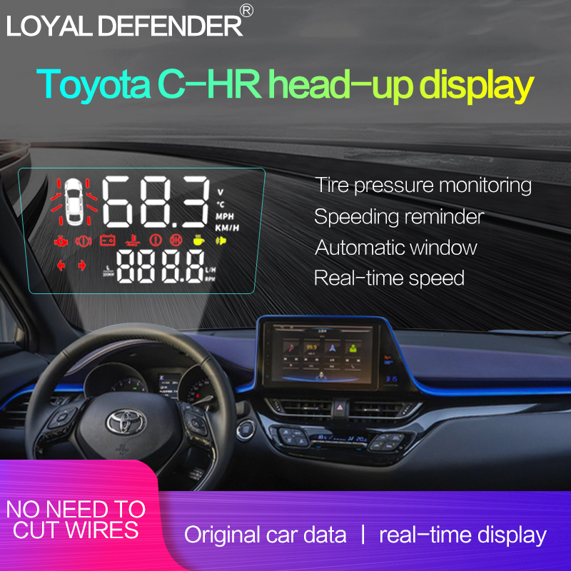 HUD Head-up Display for Toyota CH-R Left Hand Drive Dedicated for Special Car Original Data Real Time Display