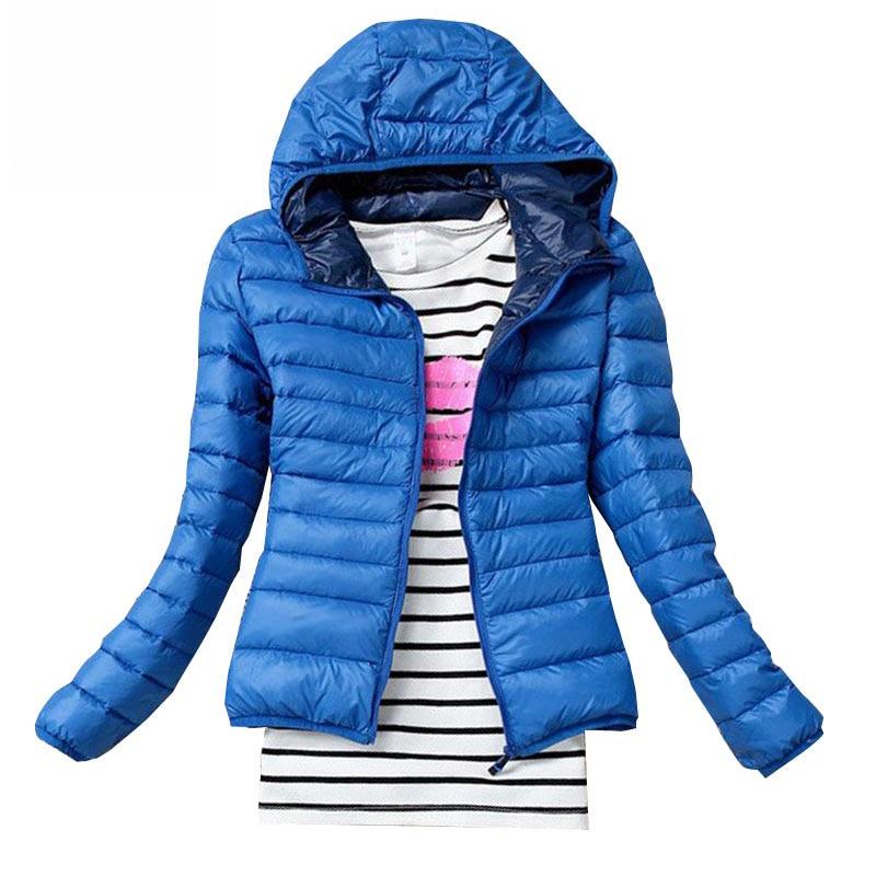 2018 Autumn Winter Cotton   Jackets   Female Slim Hooded Brand Coats Casual Black Lady's   Jackets   Women   Basic     Jackets   Coats S6959