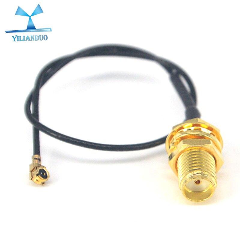 100pcs/lot SMA Female to IPX/ U.FL 15cm 1.13 Pigtail Antenna WiFi Cable for U.FL Antenna Hand-held Radio MINI PCI-E