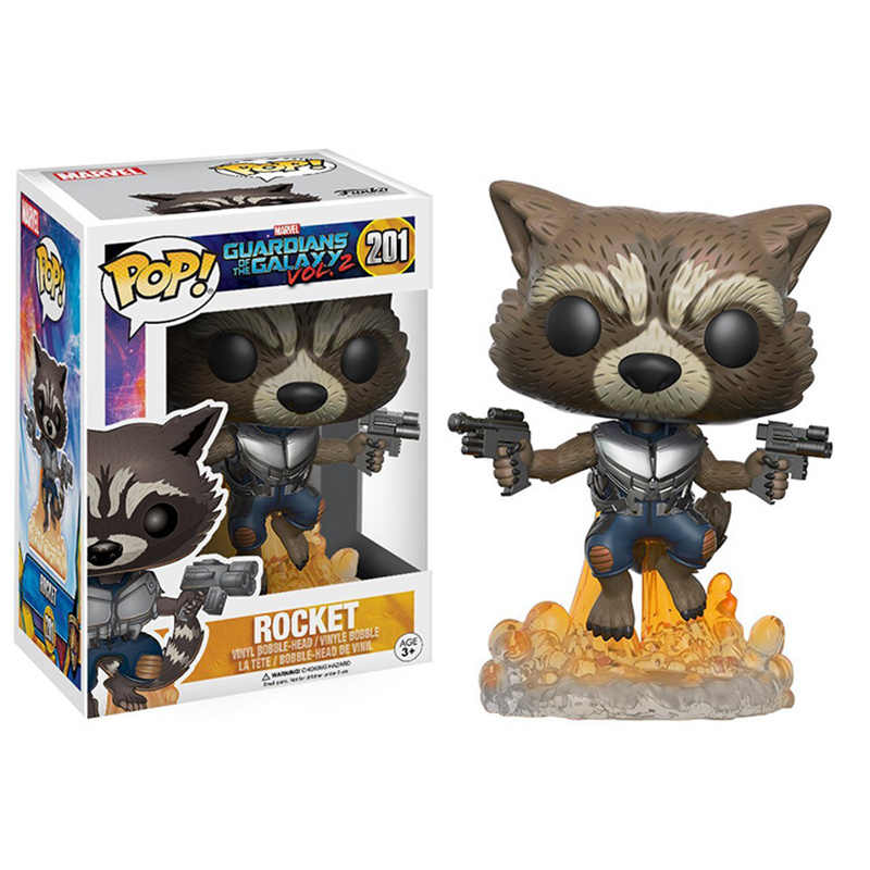 FUNKO POP Guardians of the Galaxy 2 Rocket brinquedos Marvel Collection PVC Action Figure model toys for children birthday gift