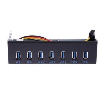 7 Порты и разъёмы USB 3,0 концентратор 5Gbs 5,25 дюймов CD-Встроенная память отсек для жесткого диска компакт-дисков Встроенная память спереди Панел... >> CO Tech Store