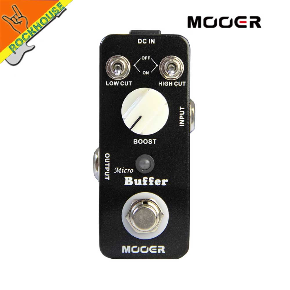 MOOER Micro Buffer Guitar Effects Pedal Accurate Copy input signal frequency Reduce signal attenuation True Bypass Free Shipping mooer ensemble queen bass chorus effect pedal mini guitar effects true bypass with free connector and footswitch topper