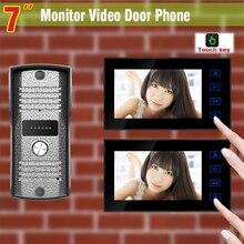 7 Inch Video Door Phone Intercom System video Doorbell Aluminium alloy pinhole Camera Video Interphone Door Bell Kit 2-Monitor