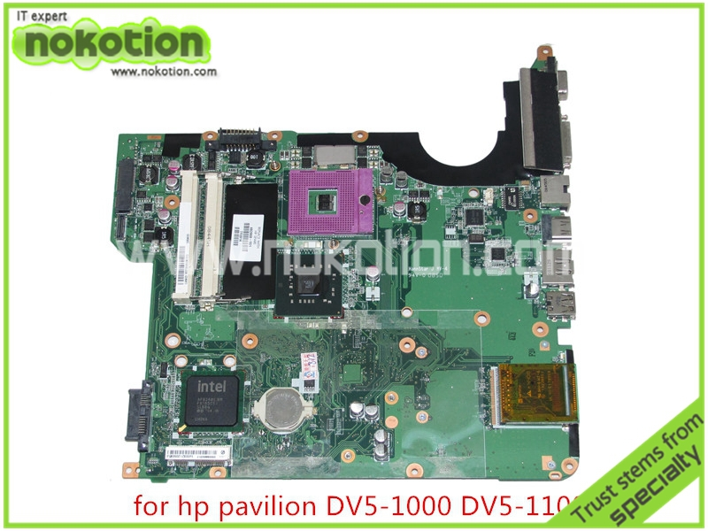 NOKOTION 482868-001 For hp pavilion DV5-1000 DV5 laptop motherboard GM45 DDR2 Mainboard full tested nokotion 653087 001 laptop motherboard for hp pavilion g6 1000 series core i3 370m hm55 mainboard full tested