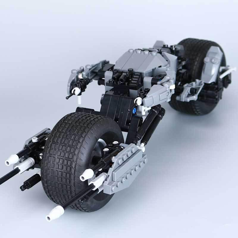 Mylb 358Pcs Super Hero Series Batman Motorcykel Set Educational Building Blocks Tegel Leksaker Modell Gift