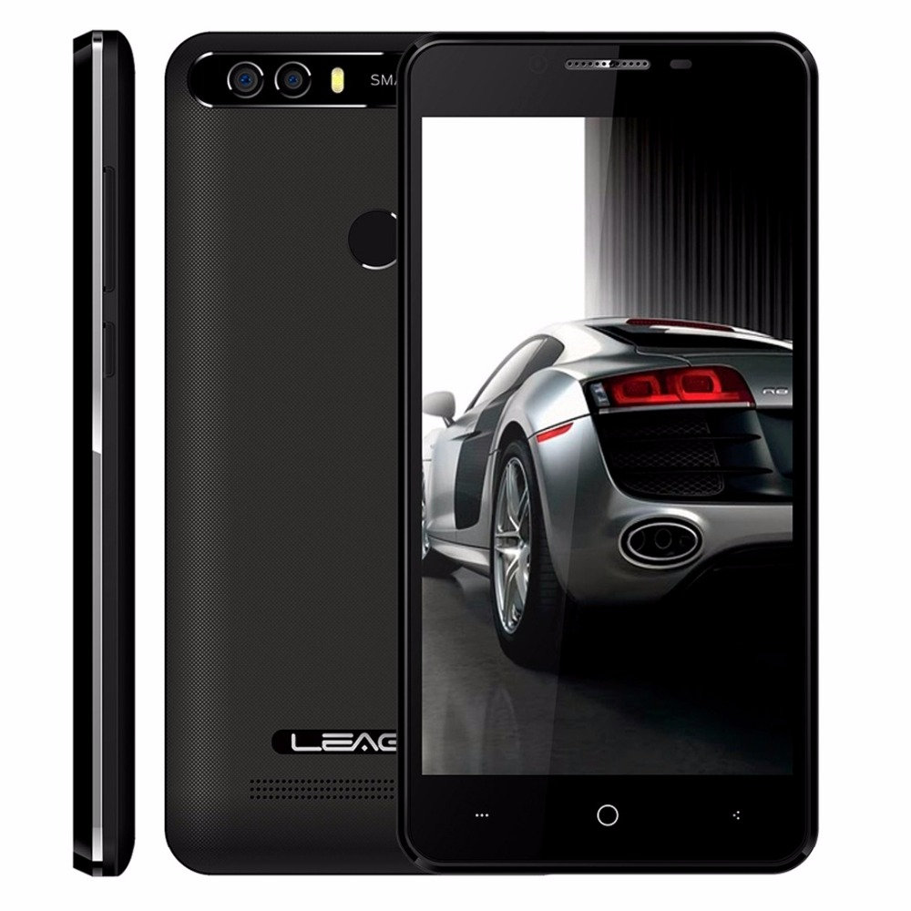 "LEAGOO KIICAA POWER 5.0"" Android 7.0 Smartphone MTK6580A Quad Core 2GB 16GB 8MP Fingerprint 4000mAh Cellphone Dual Rear Cameras"