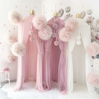25cm Mesh Ball Ornaments Handmade Nordic Style Palace Mosquito Net Decorations Nursery Pendant Wall Decor Photography Props