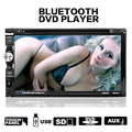 2 Din In Dash Car Stereo Bluetooth DVD CD Player Tela de Toque HD com Painel de TFT
