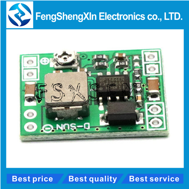 5pcs/lot MP1584EN Ultra-small Size DC-DC Step-down Power Supply Module 12V9V5V3V LM2596 24V