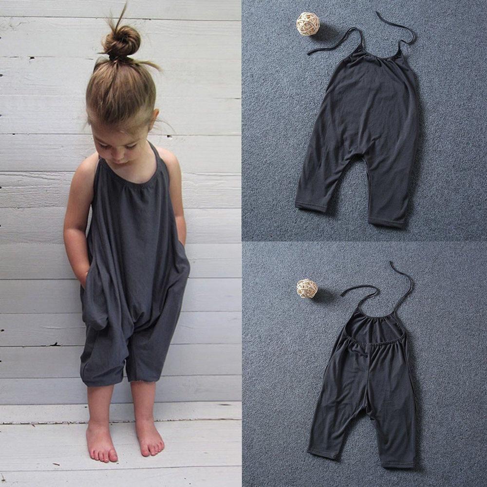 100% Kwaliteit Peuter Kid Baby Meisjes Hot Koop Fashion Baby Meisje Kleding Bandjes Rompertjes Jumpsuits Stuk Broek Kleding 1-6 T Zomer Kleding Modieuze En Aantrekkelijke Pakketten