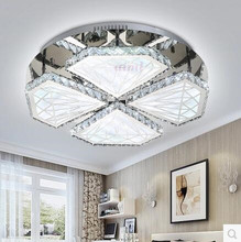 LED 80W-150W Acrylic Crystal Round Character Sitting Room Dining-room Bedroom Absorb Dome Light 220-240V   @-9 все цены