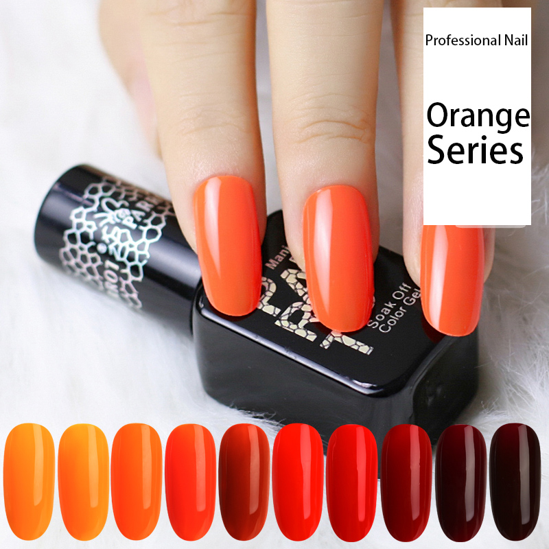 PARROT 10ml Orange Color Gel Nail Polish Red&Yellow Primer