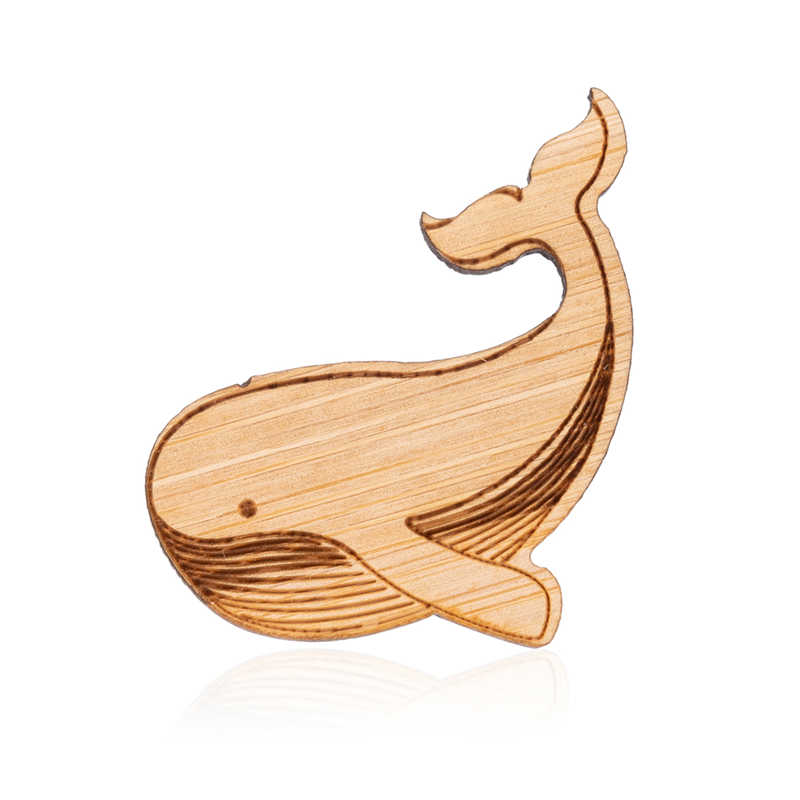 Yiustar Women Brooches Elegant Charms Whale Brooch Pins Wooden Cute Sea Fish Dolphin Bobo Jewelry Bumble Animal Girls Kids Gift