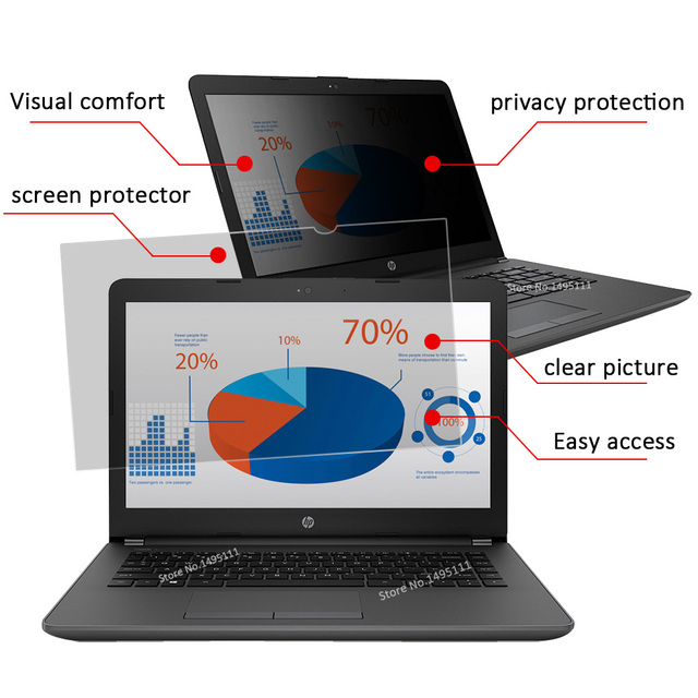 12.5 inch (277mm*156mm) Privacy Filter For 16:9 Laptop Notebook Anti-glare Screen protector Protective film