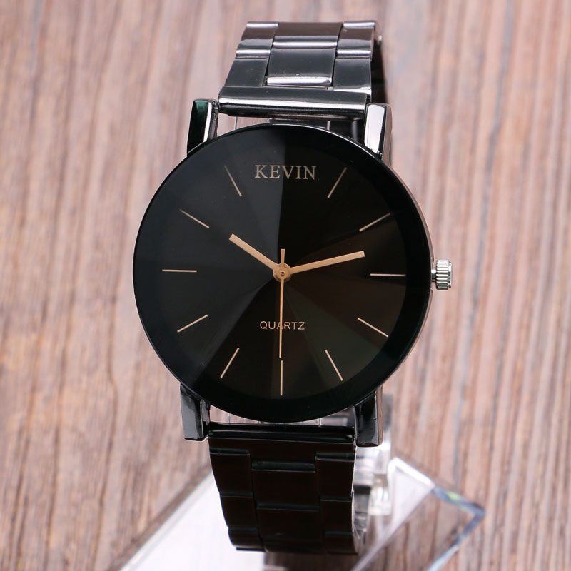 Luxury Full Steel Men's Watches KEVIN Brand Wrist Watch Fashion Analog Simple Quartz Watches Male Sports Casual Clock fashion top gift item wood watches men s analog simple hand made wrist watch male sports quartz watch reloj de madera