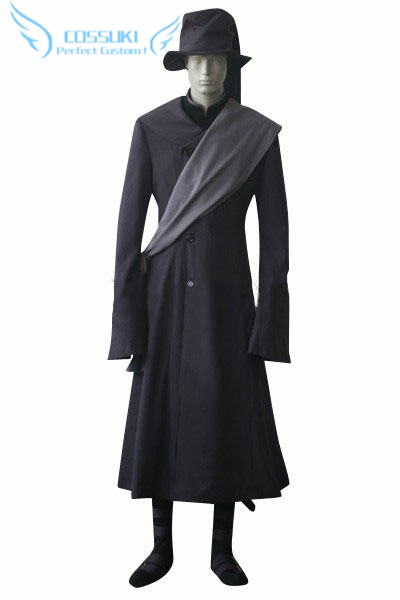 Newest High Quality Black Butler Kuroshitsuji Undertaker Uniform Cosplay Costume Perfect Custom For You