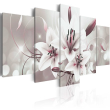 5 Pieces  Canvas Painting Wall Art Delicate background beautiful lily flowers Paintings Modern Wall Pictures Framed PJMT- (7)