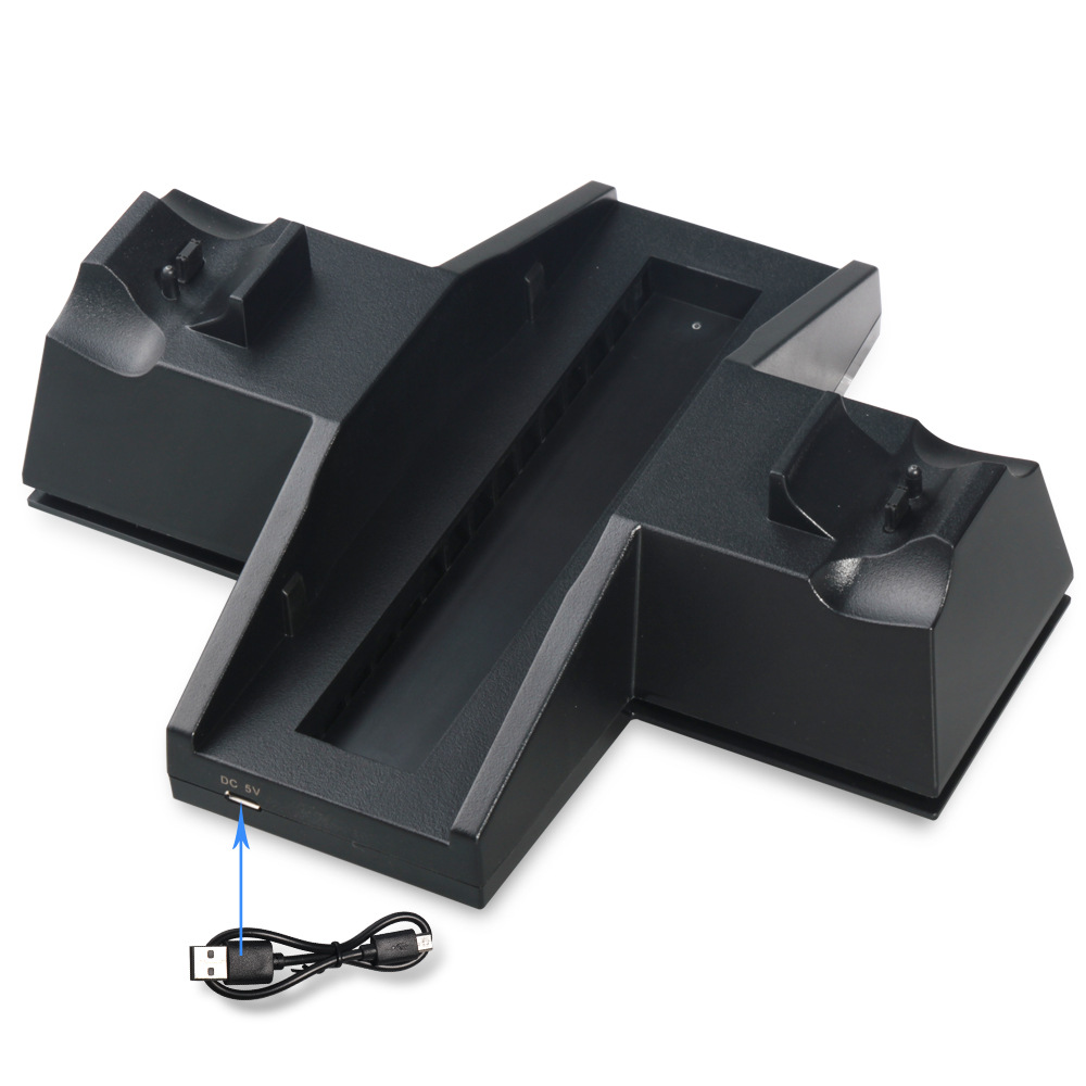 Image 3 - Controller Cooling Charging Station Charger stand with USB HUB for and Game Discs Storage Rack for PS4 / PlayStation 4 Console-in Replacement Parts & Accessories from Consumer Electronics