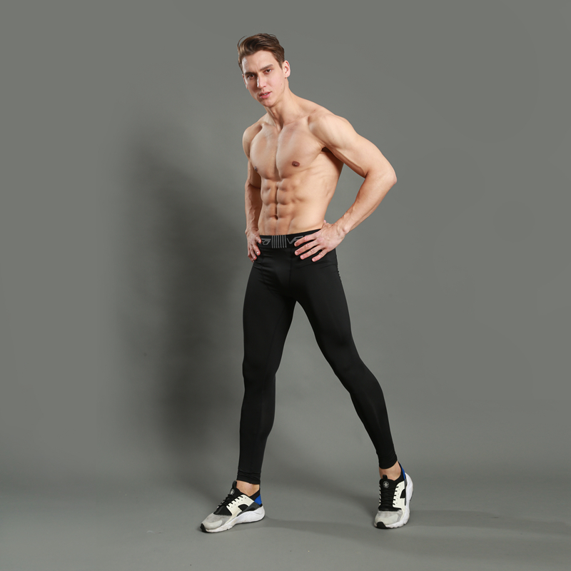 Hommes De Compression Collants Running Basket Ball Gym Pantalon Musculation  Jogger Jogging Maigre Leggings Pantalon de Sport Noir dans Collants Running  de ... 2427e939cf7
