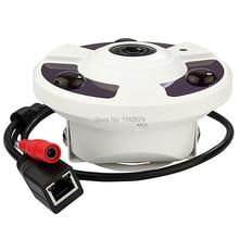 5 megapixel hd night vision 3pcs Array IR led to 25M fisheye 360 degree Panoramic Security ip Camera with digital PTZ