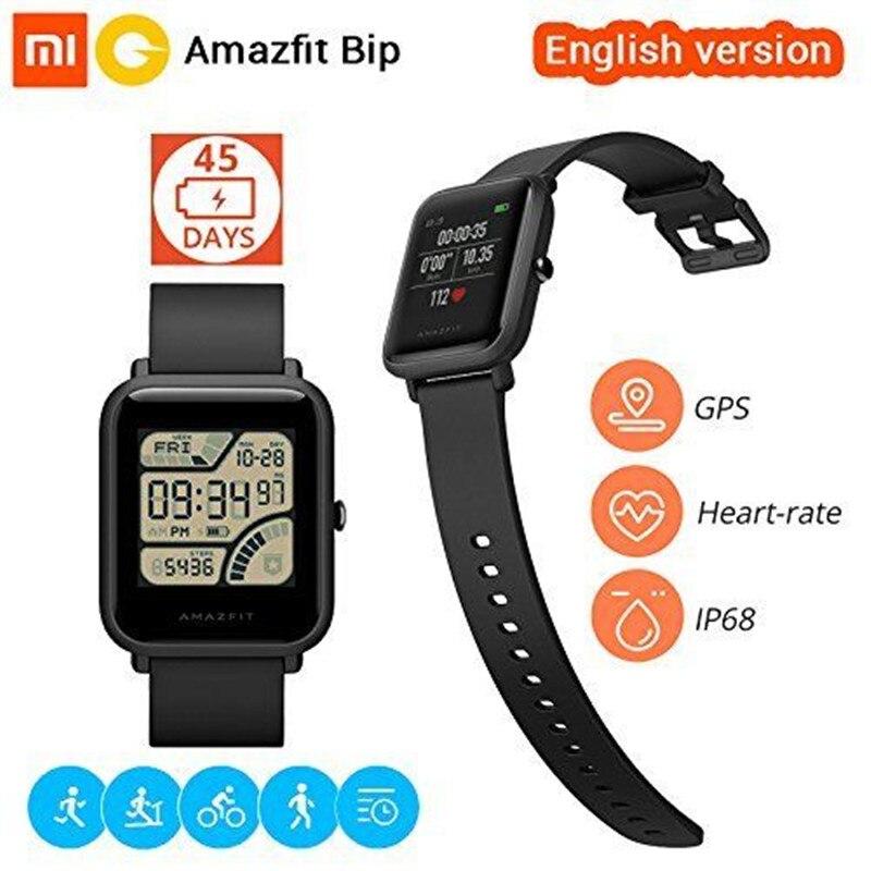 Huami Amazônia Gloness Bip Versão Global GPS Relógio Inteligente iOS Android Smart-Relógios Monitor de Freqüência Cardíaca 45 Dias Bateria vida IP68