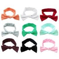 Children Bowknot Elastic Hair Bands Printing Cotton Girls Headwear Newborn Infant Hair Accessories Headbands Baby Headdress
