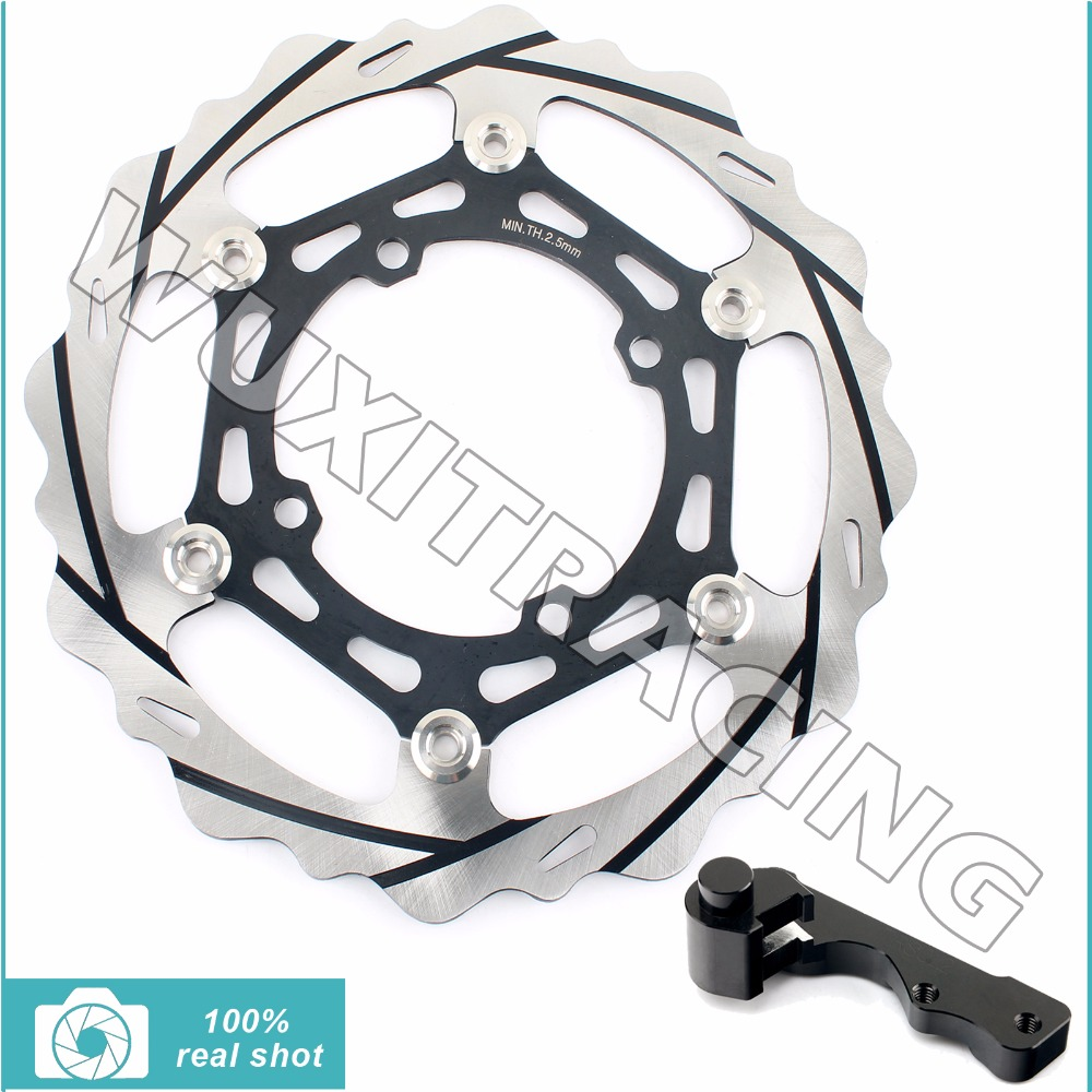 Oversize 270MM Front Brake Disc Rotor Bracket Adaptor for KAWASAKI KX125 KX250 KX F 250 KX250F KX F 250 KX250F 2003 2004 2005 high quality 270mm oversize front mx brake disc rotor for yamaha yz125 yz250 yz250f yz450f motorbike front mx brake disc