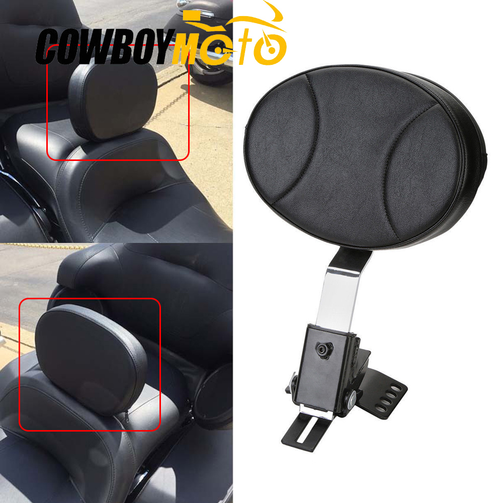 Motorcycle Adjustable Driver Backrest Sissy Bar Pad For 1997 2016 2014 2015 Harley Electra Street Glide