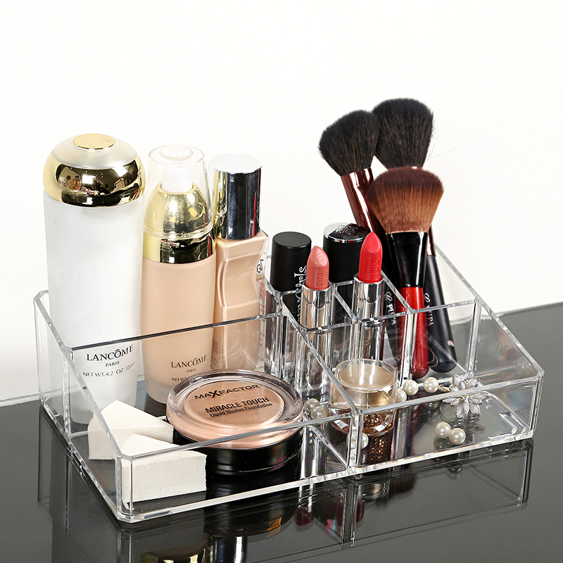 New design transparent plastic box creative acrylic makeup organizer
