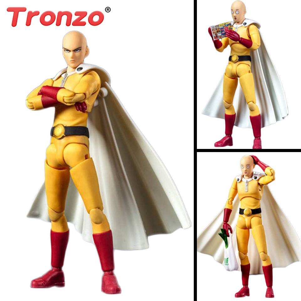 все цены на Tronzo Action Figure 14cm One Punch Man Figure PVC Hero Saitama Figures GT Collectible Model Toy Gift For Boy Friends онлайн