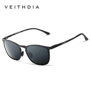 Image 3 - VEITHDIA Unisex Retro Aluminium Magnesium Brand Zonnebril Gepolariseerde Lens Vintage Eyewear Accessoires Zonnebril Mannen/Vrouwen 6630