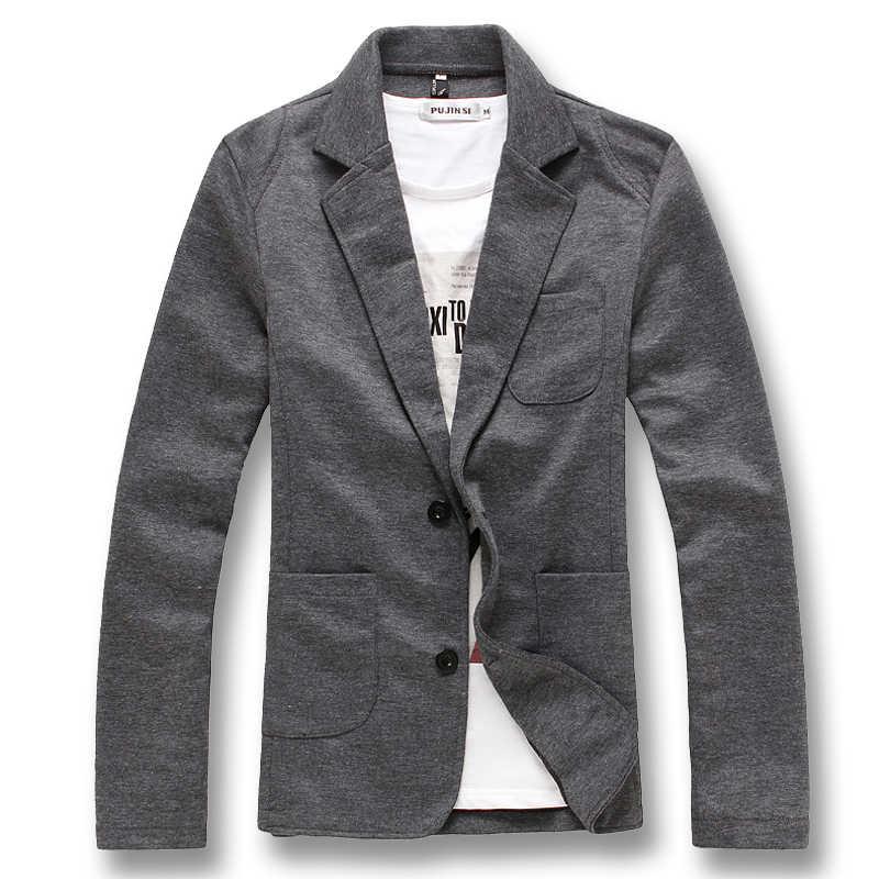 ISurvivor 2019 мужской весенне-осенний тонкий Двухкнопочный однотонный вязанный блейзер пальто с длинными рукавами износоустойчивый фланелевый Блейзер мужские пиджаки куртки