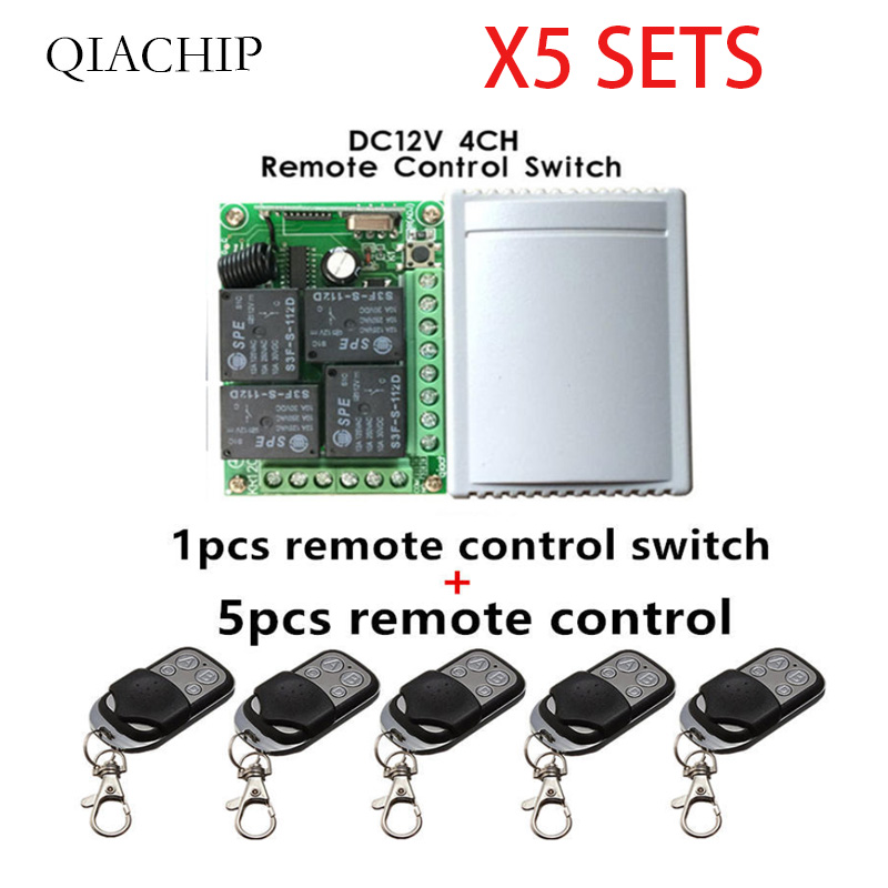 Image 3 - 433Mhz  Wireless 30pcs Remote Control Switch DC12V 4CH relay Receiver Module and 150pcs 4 channel RF Remote 433 Mhz-in Remote Controls from Consumer Electronics