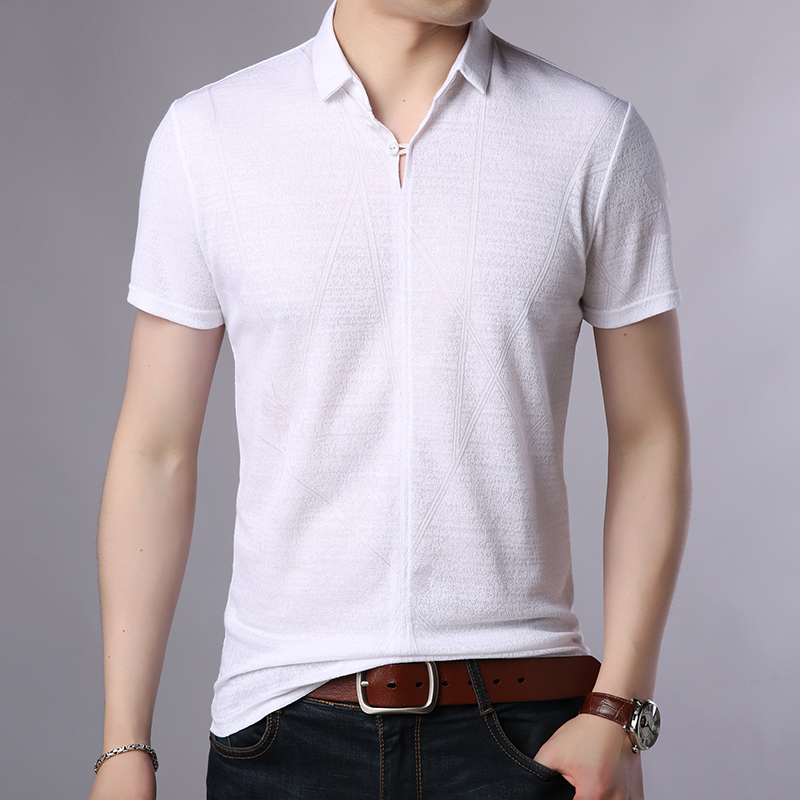 2019 New Fashion Brand Summer   Polo   Shirt Men Modal Solid Color Slim Fit Short Sleeve Top Grade Boys   Polos   Casual Men Clothes