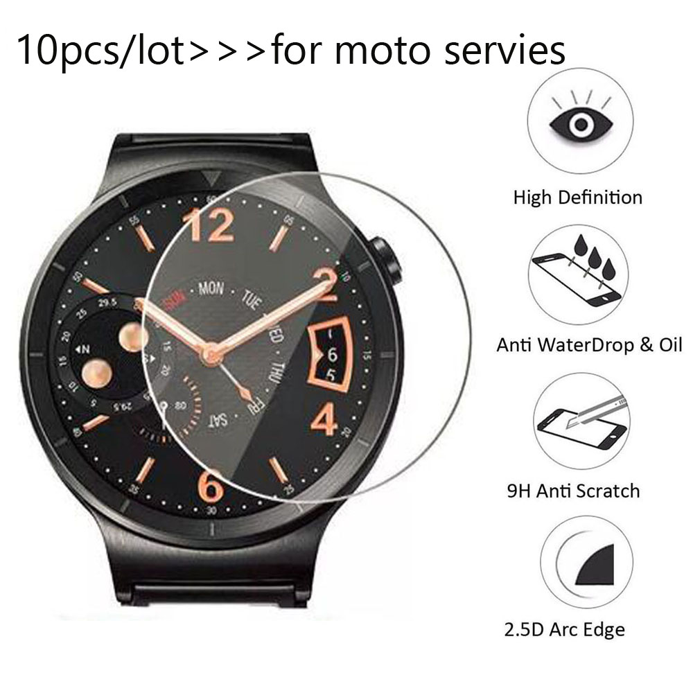 10pcs Tempered Glass For Moto 360 1st Gen and 2nd Gen 46mm 42mm Sport Watch Protective Glass Film Screen Protector