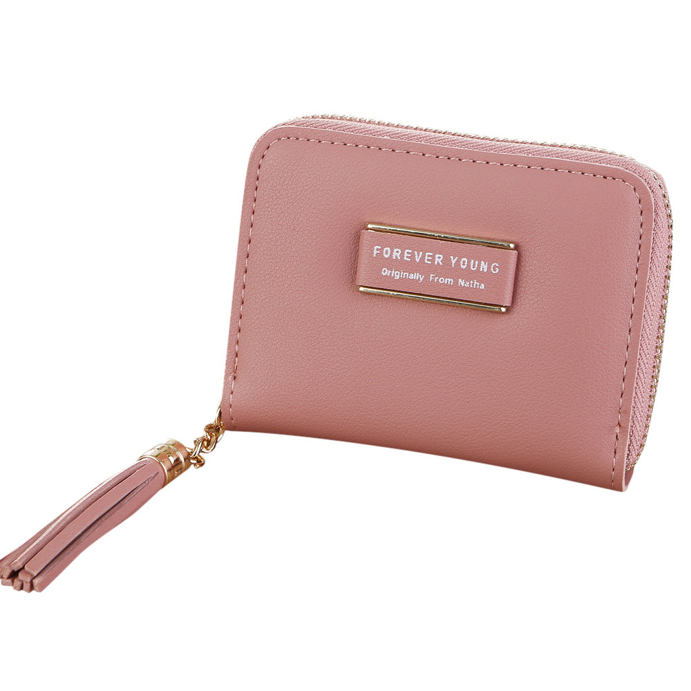 b22f53113ed US $1.76 30% OFF|Women Simple Retro Letters Short Wallet Coin Purse Card  Holders Handbag Designer Wallets Famous Brand New Tassel Decoration-in ...