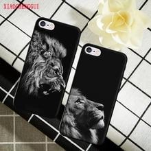 New Fashion Lion Design hard plastic Cover Case For Apple iphone 4 4S 5 5S SE 5C