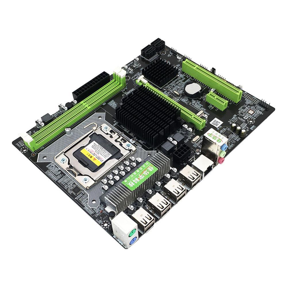 VKTECH X58 Pro ordinateur de bureau PC carte mère LGA 1366 DDR3 USB2.0 SATA2.0 Support pour Xeon X5675 X5680 X5690 REG ECC mémoire