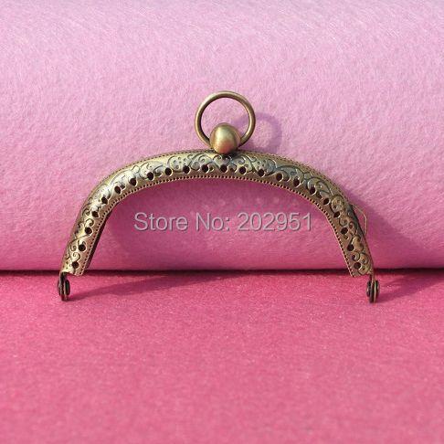 50 Teile/los 8,5 Cm Antike Bronze Metall Geldbörse Rahmen Ring Kuss Schließe Griff Für Diy Handwerk Tasche Beutel Nähen Mutter & Kinder