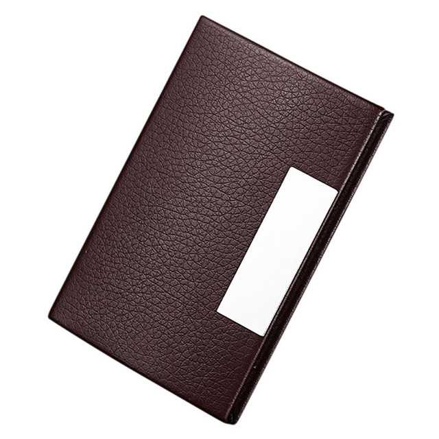 women men personalized leatherette stainless steel business card case fashion cardbag ladies clutch purse - Personalized Business Card Case