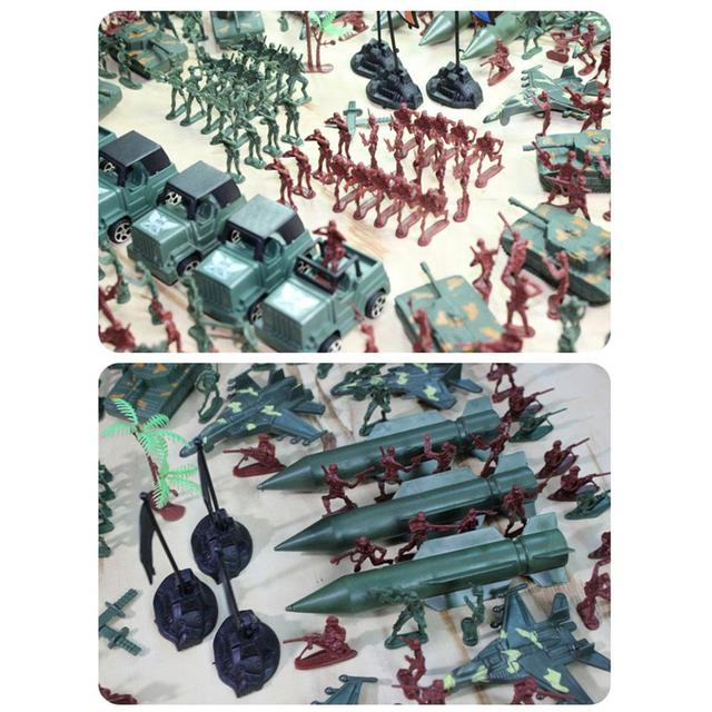 307pcs/lot Soldier Model Toy Military Plastic Army Men Figures Accessories Educational Toys for Children Birthday Boys Gifts 1
